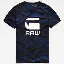 G-Star Raw Men's Hudson Blue Zeabel Camo Graphic Crew-Neck Short Sleeve T-Shirt Photo
