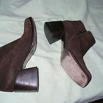 G via Spiga Italian Made Brown Brushed Leather Fashion Booties Womens 7 M Photo