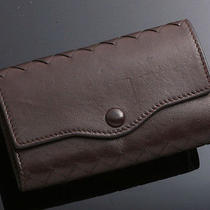 G0512 Authentic Bottega Veneta Intrecciato Leather 6 Ring Key Case Photo