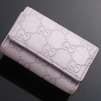 G2005 Authentic Gucci Gg Guccissima Leather 6-Ring Key Case Photo