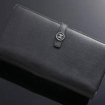 G2715 Authentic Chanel Coco Genuine Leather Long Wallet Photo