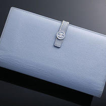G2848 Authentic Chanel Coco Genuine Leather Bifold Long Wallet Photo