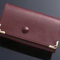 G2966 Authentic Must De Cartier Genuine Leather 6-Ring Key Case Photo