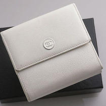 G3290 Authentic Chanel Coco Logo Genuine Leather Bifold Wallet Junk Photo