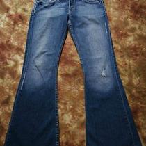 G51 Bke Denim Element Jeans Size 28 X 31 1/4 Stretch Distressed Boot Cut Photo