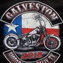 Galveston 2015 Texas Flag Bike Denim Commando Orange 3xl Photo