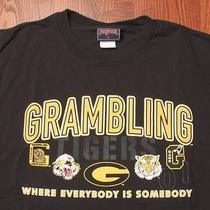 Gambling Tigers Ncaa College Athletics Logo Text Large Black T-Shirt Photo