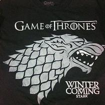 Game of Thrones Winter Is Coming Hit Fantasy Tv Black Adult Large. Photo