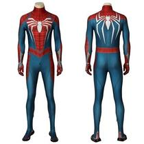 Game Spider-Man Peter Parker Ps4 Cosplay Costume Halloween Outfit Photo