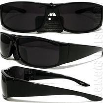 Gangster Black Cholo Wrap Sunglasses Super Dark Lens Og Loc Lowrider Style 22sd Photo