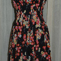 Gap 100% Cotton Floral Wide Strap Elastic Bodice Summer Dress Sz 4 Euc Photo