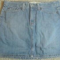 Gap 100% Faded Cotton Basic Mini No Back Pockets Blue Jean Skirt Size 6  Closet Photo