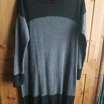 Gap 100% Italian Merino Wool Tunic Dress Size M Slate Grey Very Good Condition.  Photo
