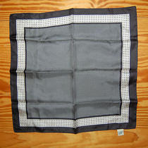 Gap 100% Silk Navy Blue and Gray Scarf Euc Photo