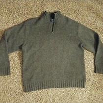 Gap 100% Wool Sweater 1/4 Zip Graymens L Euc Appears Unused Photo