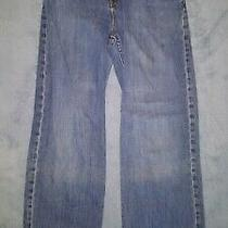 Gap 18r Boys Loose Fit Denim Blue Jeans With Waist Adjusters Photo