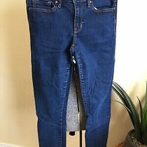 Gap 1969 Always Skinny Women Jeans 28r 6 Straight Leg Dark Denim Great Condition Photo