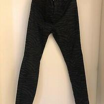 Gap 1969 Animal Print Grey Black Skinny Jeans Size 26 Bnwot Photo