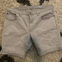 Gap 1969 Authentic Straight Beige Cuff Mens Jean Shorts Size 40 Photo