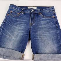 Gap 1969 Bermuda Denim Women's Jean Shorts With 7 Rolled Inseam Very Soft Photo