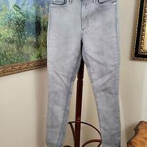 Gap 1969 High Rise Skinny Womens Gray Denim Jeans 25r (Ba6)  Photo