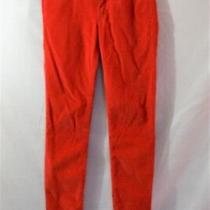 Gap 1969 Legging Jean Red Orange Corduroy Skinny Pants Size 25r X 28 Photo
