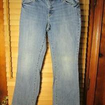 Gap 1969 Long & Lean Straight Leg Women's 10a Blue Light Wash Denim Jeans Pants Photo