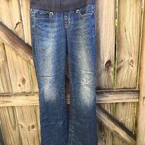 Gap 1969 Maternity Jeans 30 / 10r Sexy Boot Medium Blue Denim 28.5