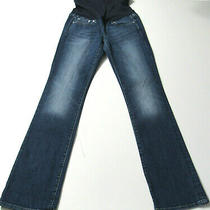 Gap 1969 Maternity Perfect Boot Stretch Blue Jeans Size 27r / 4  4471 Photo