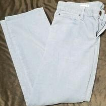 Gap 1969 Real Straight Women's Corduroy Jeans Size 31 Light Blue Photo