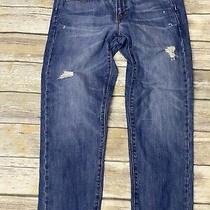Gap 1969 Sexy Boyfriend Jeans Womens Sz 29 X 28 Distressed Blue Denim Pockets Photo