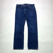 Gap 1969 Straight Mens Size 33 X 32 Dark Rinse Wash Denim Jeans Photo