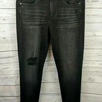Gap 1969 Women's High Waist True Skinny Jeans - Black Distressed Denim - Size 31 Photo