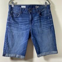 Gap 1969 Womens Skinny Bermuda Cuffed Denim Shorts Size 29r Photo