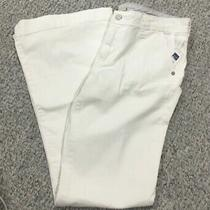 Gap 1969 Women's White Jeans Size 10 Reg Authentic Flare Low Rise Stretch New Photo