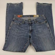 Gap 1969 Womens Jeans Size 4r Long Lean Flare Low Rise Distressed Whisker-Z2 Photo