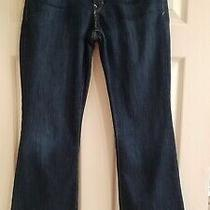 Gap 1969 Womens Juniors  Perfect Boot Dark Denim Jeans Size 28 / 6r Excellent Photo