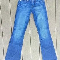 Gap 1969 Womens Size 27/4 Long Dark Wash Sexy Boot Mid Rise Stretch Blue Jeans Photo