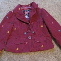 Gap 3 Years Maroon Blazer or Jacket Flowers Embroidered Photo