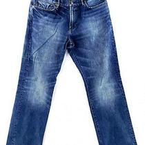 Gap 35x32 Standard Fit Blue Jeans Straight Leg Casual Dark Wash Denim Work  Photo