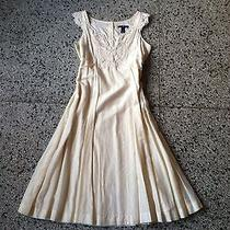 Gap a-Line Vintage Inspired Dress in Cream Size Xs Photo