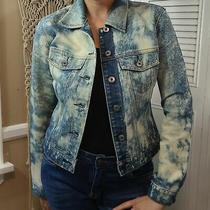 Gap Acid Washed Button Down Jean Jacket Size Xs Women's Cotton Blend Vintage   Photo