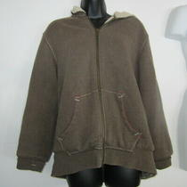 Gap Athletic Fit  Womens/ Juniors  Lined Zip-Up Jacket Brown Size S Rn54023 Photo