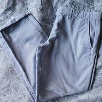 Gap Baby Blue Skinny Trousers Sailor Rolled Cropped  Khakis Uk Size 8 Photo