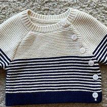 Gap Baby Boy Newborn Striped Sweater Photo