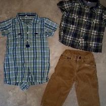 Gap Baby Boy Shirt Pants Romper 12-18 Months Photo
