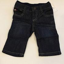 Gap Baby Boy Size 0-3 Months Nwt Straight-Leg Pull-on Jeans. Dark Denim. Photo