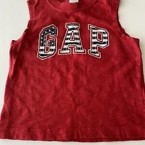 Gap Baby Boy Sleeveless Red Top Cotton Size 18-24 Months Photo