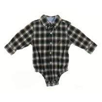 Gap Baby Boys  Shirt Size 6 Mo  Black Green White  Cotton Photo