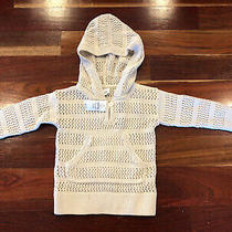 Gap Baby Girl Knit Hooded Crocheted Sweater  Size 18-24 Month Nwt Photo